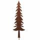 Metal spruce, for sticking, H150cm, B40cm, rust